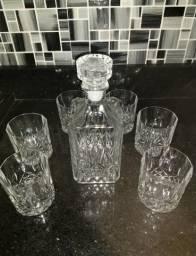 Jarra para whisky com 6 copos