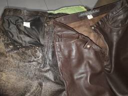 Kit com duas lindas calças de couro, n 38