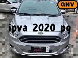 Ka + sedan 1.5 flex / gnv + completo + ipva pg + ( otimo uber ) - 2018