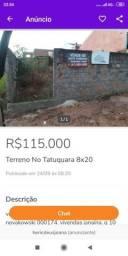 Vendo terreno no Tatuquara