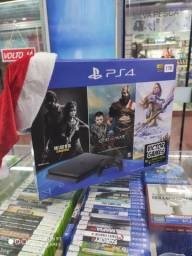 PS4 Novo! Com 3 Jogos! 10x Sem Juros!
