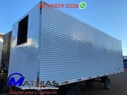 Baú frigorífico 7.50MT Capacidade: 14 pallets Frontal preparada para Super II