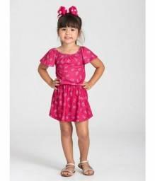 Vestido Infantil Morango Pink