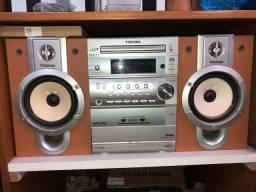 Micro System Toshiba AM/FM Estéreo CD, MP3 e Cassete MC-752MP - No Estado