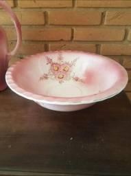 Jarro E Bacia Em Porcelana Antigo