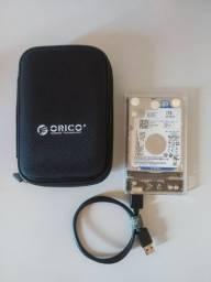 HD Externo 1TB + Case Orico usb 3.0 + Capa Orico