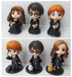 3pcs Harry Potter Hermione Ronald Miniatura 8cm Boneco