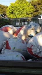 Palha arroz em saco
