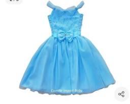 Vestido festa Frozen e Cinderella