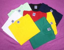 Kit 15 Camisetas Masculina Colorida Penteada Break Friday -Para uniforme