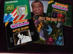 LPs - Os Gigantes do Jazz (Liquida: 5 LPs)