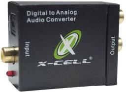 Adaptador Conversor Ótico Xcell Coaxial Digital P/ Rca - Imperium Informatica