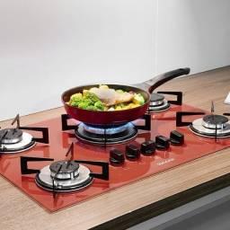 Muito + praticidade pra vc que gosta de cozinhar !! Cooktop 5 bcs