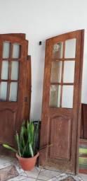 Portas de madeira Angelim