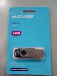 Pen Drive 64GB e 32GB.