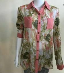 Blusa social veste até 44, por R$ 25,00
