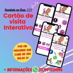 Cartão de Visita Digital/Interativo