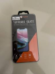 Película protetora de tela de vidro temperado 9H para iPhone XS e 11 Pro Max