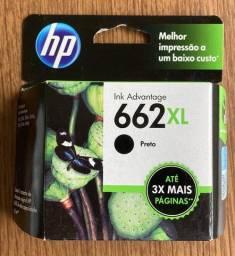 2x Cartuchos HP 662 XL (1 aberto, outro lacrado)