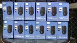 Mouse Óptico Com Fio Philips - M104