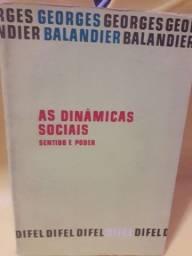 as dinâmicas sociais_georges balandier (usado) R$ 15,00