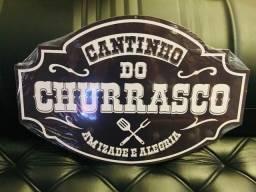 Título do anúncio: Placa Recorte Cantinho do Churrasco