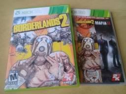 Games Xbox 360 Boderlands 2 e Máfia 2