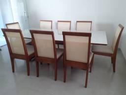Título do anúncio: Mesa de madeira 8 lugares nova completa pronta entrega