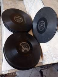Discos antigos de gramofone