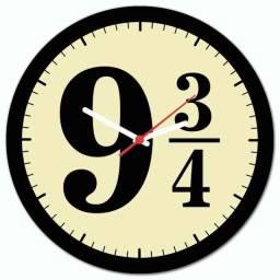 Promocao Relógio de Parede Temático Harry Potter Promocao