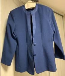 Conjunto blazer e saia (tailler) feminino azul  tamanho 44