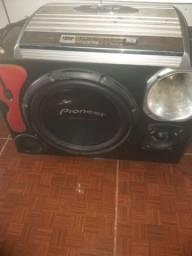 Caixa de som para carros com potência 1600w