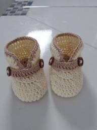 Sapatinhos para bebês em crochê