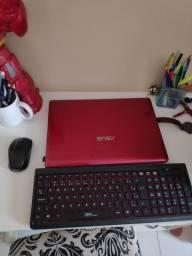 Notebook core i5+ teclado e mouse