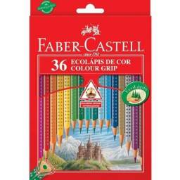 Título do anúncio: Ecolápis De Cor Colour Grip C/ 36 Cores - Faber Castell R$ 45,00