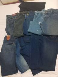 Lote 11 calças Tam 42 e 44