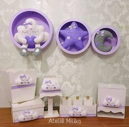 Kit higiene e nichos MDF Decoração bebê
