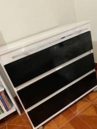 Cômoda/Penteadeira preta e branca 3 gavetas
