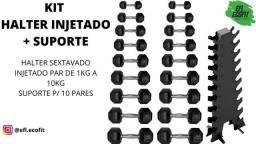 Título do anúncio: Kit halter sextavado injetado + expositor