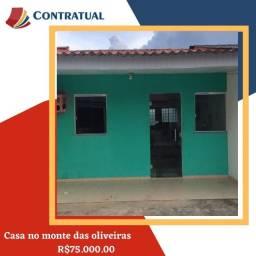Casa no bairro monte das oliveiras, 02 quartos