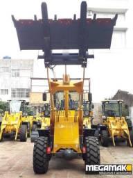 Pá Carregadeira C/Engate Rápido + Garfo Pallet 2200kg, Top de Linha - Pronta Entrega