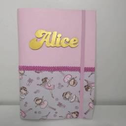Capa caderneta vacinação- Bailarina