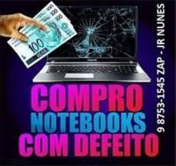 Notebooks com defeito ou parados