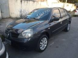Clio sedan 2007 1.0 flex completo