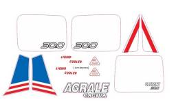 Kit Adesivo Agrale Dakar 30.0 Azul
