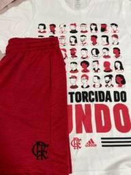 Conjunto Flamengo Shorts Flamengo oficial 10 anos