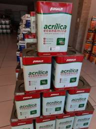Título do anúncio: Tinta acrílica 18L rende 300m² na Cuiabá tintas