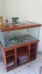 Lindo aquário. Grande em madeira