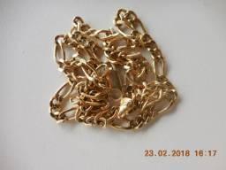 Cordão banhado a ouro da rommanel joias com 16 gramas e 56 centímetros. Usado