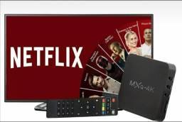 Transforme sua tv em Smart Tv box 4k Mxq 16g